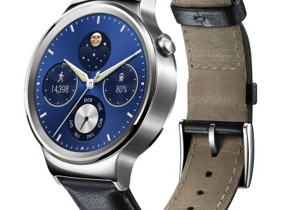 Smartwatch Watch Classic Black Leather Band van Huawei