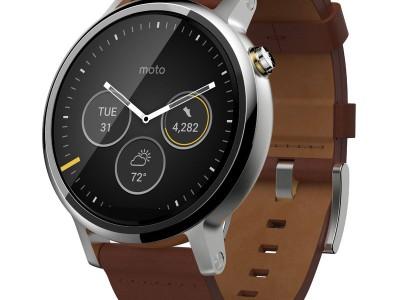 Smartwatch Moto 360 2 46mm Dali Cognac Leather van Motorola