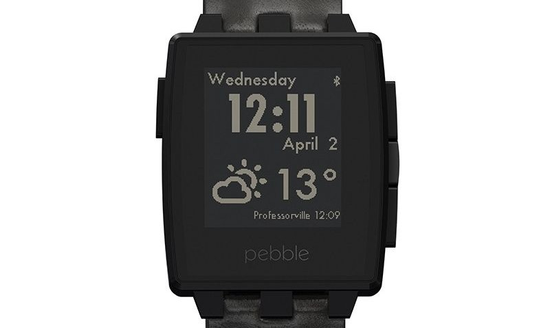 Smartwatch Steel Smartwatch Black Matte van Pebble