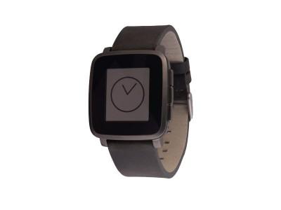 Smartwatch Time Steel Gunmetal Black van Pebble